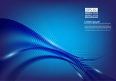 Blue color waves abstract background design. vector illustration.  royalty free illustration