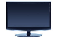 Blue color widescreen monitor Stock Photos