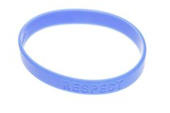 Blue color wrist band Royalty Free Stock Images