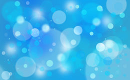 Blue colored abstract blurred circle bokeh Stock Photo