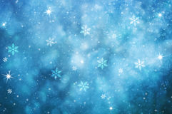 Blue colored abstract snowfall greeting card background Royalty Free Stock Photography