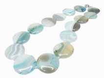 Blue Colored Beads Stock Photography