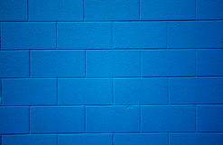 Blue colored brick background. Royalty Free Stock Photography