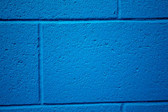 Blue colored brick background. Royalty Free Stock Photos