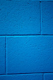 Blue colored brick background. Royalty Free Stock Images