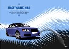 Blue colored car sedan Royalty Free Stock Photography