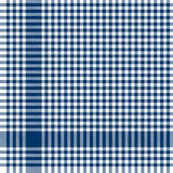 Blue checkered table cloth pattern. Blue colored checkered table cloth pattern for background design Royalty Free Stock Photo