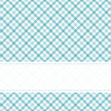 Checkered table cloth pattern with banner. Blue colored checkered table cloth pattern with free banner for text Stock Photos