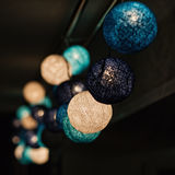 Blue colored glowing garland Stock Image