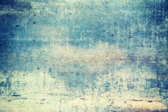 Blue colored grunge background Stock Photos