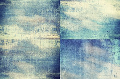 Blue colored grunge texture backgrounds Royalty Free Stock Photos
