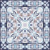 Blue colored handkerchief Stock Photos