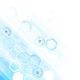 Blue colored hexagon technology background. Royalty Free Stock Images