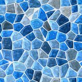 Blue colored marble irregular plastic stony mosaic pattern texture seamless background. Blue colored abstract marble irregular plastic stony mosaic pattern Royalty Free Stock Images
