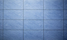 Blue colored mosaic background tiles Stock Image