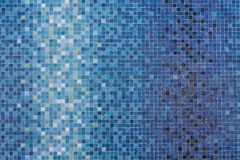 Blue colored mosaic squares Royalty Free Stock Photos