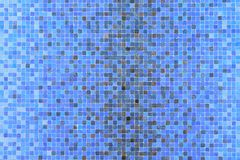 Blue colored mosaic squares Stock Photo