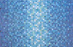 Blue colored mosaic squares Royalty Free Stock Photography