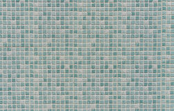 Blue colored mosaic tiles wall Royalty Free Stock Image