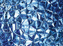 Blue colored relief crystal backgrounds Royalty Free Stock Photo