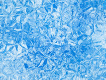 Blue colored relief ice crystal background Stock Photos