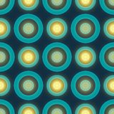Blue colored retro seamless vector pattern with Royalty Free Stock Photography