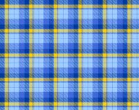 Blue colored tartan Royalty Free Stock Photography