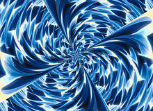 Blue colored twirl relief crystal backgrounds Royalty Free Stock Images