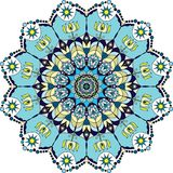 Blue colorful mandala. royalty free illustration