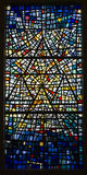 Blue colorful stained-glass window Royalty Free Stock Photography