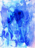 Blue colorful watercolour  background  for print and web Royalty Free Stock Images