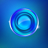 Blue colors abstract background with circle medal Stock Images