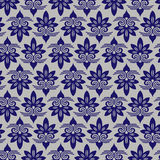 Blue Colors Asian flower Damask Pattern. Korean traditional Patt Stock Image