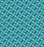 Blue Colors Flower Pattern design. Original Pattern and Symbol S Royalty Free Stock Photos