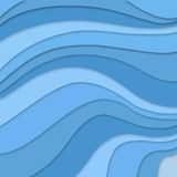 Blue colors in layered flowing waves concept in abstract striped pattern, blue background material design. Pastel blue colors in elegant layered flowing waves vector illustration
