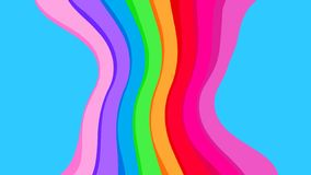 Blue colors and rainbow wave for background, abstract colorful wave line, wallpaper rainbow curve multicolor stripes, rainbow art stock illustration