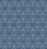 Blue Colors Round grid Pattern. Korean traditional Pattern Desig Stock Photography