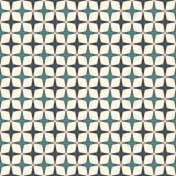 Blue colors seamless pattern with stylized repeating stars. Simple geometric ornament. Modern stylish texture. Stock Image