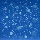 Blue colors winter sky background Stock Photos