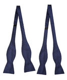 Blue colour bow ties isolated Royalty Free Stock Photography