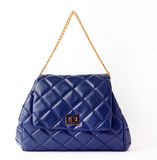 Blue colour fashion bag Stock Photo