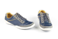 Blue colour shoes Royalty Free Stock Photo