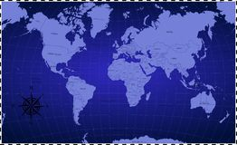 Blue Colour of World Map Background vector illustration
