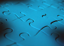 Blue coloured igsaw puzzle Stock Photography