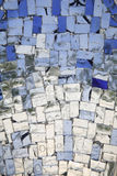 Blue and colourless glass mosaic. Abstract of different blue shades of glass mosaic Stock Images