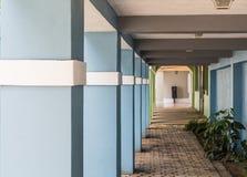Blue Columns with White Trim Royalty Free Stock Photo