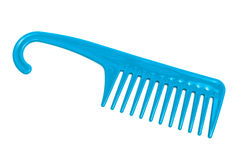 Blue comb with handle Royalty Free Stock Image