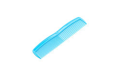 blue comb on white Royalty Free Stock Photo