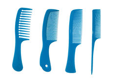 Blue combs Stock Photo