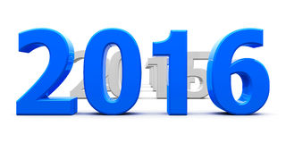 Blue 2016 come. Represents the new year 2016, three-dimensional rendering Stock Photo